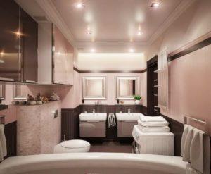 натяжной потолок в ванной 6