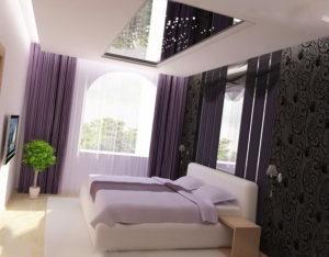 Натяжной потолок в спальню 1